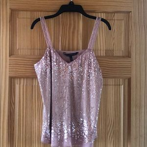 WHBM Rose Gold Cami with Sequence